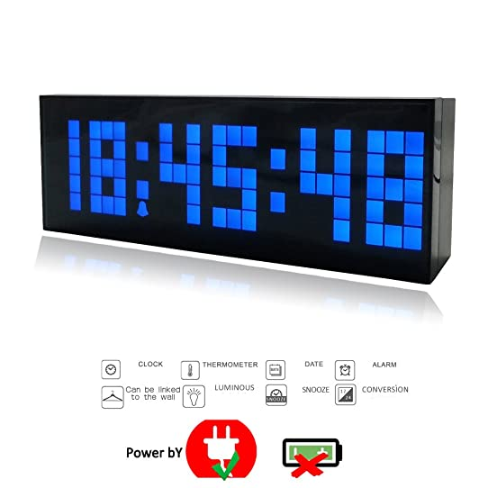 horloge murale affichage digital horloge murale led with. Black Bedroom Furniture Sets. Home Design Ideas