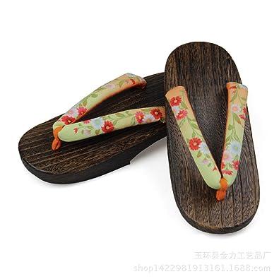 TopIn Damen Japanese International Geta Sommer Clogs Sandalen-Langlebig/Komfortabel(Enthält Ein Paar Geta Socken) bBRKWCma2