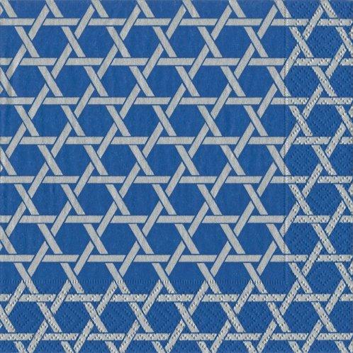 Caspari 14220C Star Lattice Paper Cocktail Napkin, - Judaica Paper