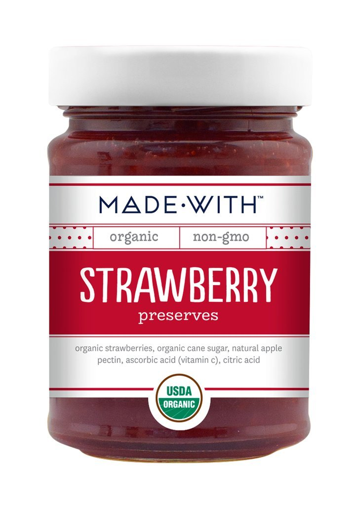 Made With Organic Preserves Strawberry, 11 oz