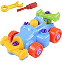 guoYL26sx chird's Toys Disassembly Assembly Airplane Train Kart Kids Early Learning Educational Toys - Kart#