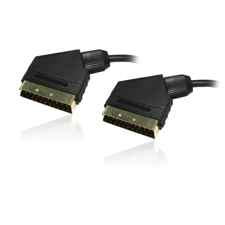 5 m, macho a macho, contactos dorados, 21 pines conectados Cable euroconector CDL Micro importado