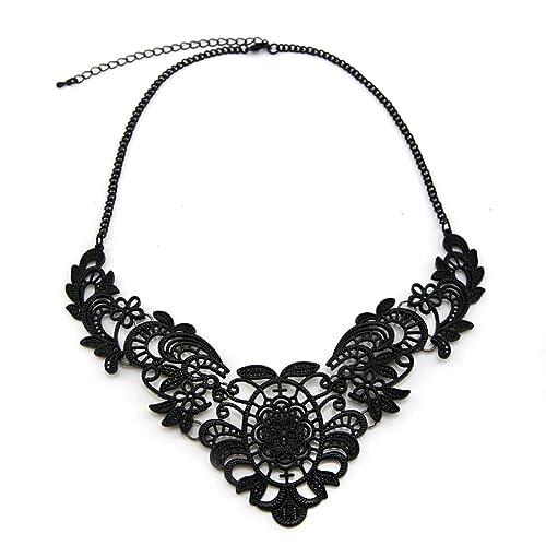 Trinketsea Mujer Collar De Declaración Para Vestido Negro