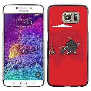 Be Good Phone Accessory // Dura Cáscara cubierta Protectora Caso Carcasa Funda de Protección para Samsung Galaxy S6 SM-G920 // Funny Cute Bomb & Son