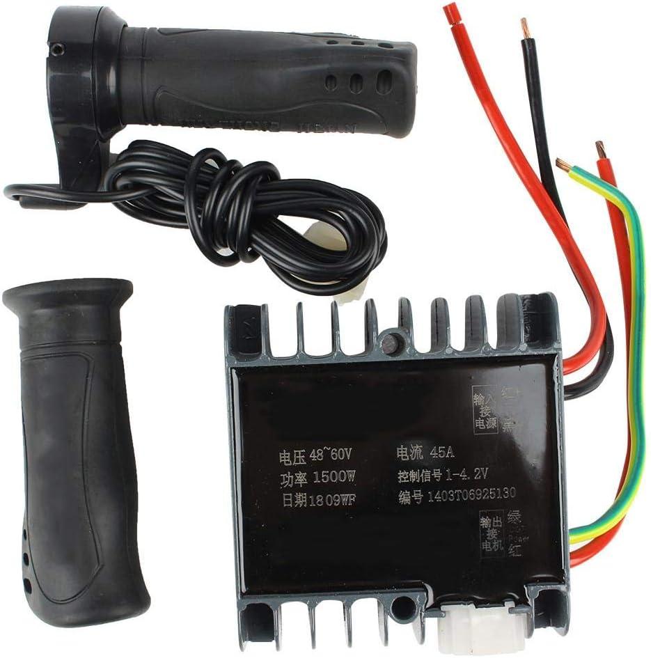Baverta BavertaController-Controlador Cepillado Motor Caja de Controlador Cepillado para Triciclo de Scooter eléctrico 48-60V 1500W