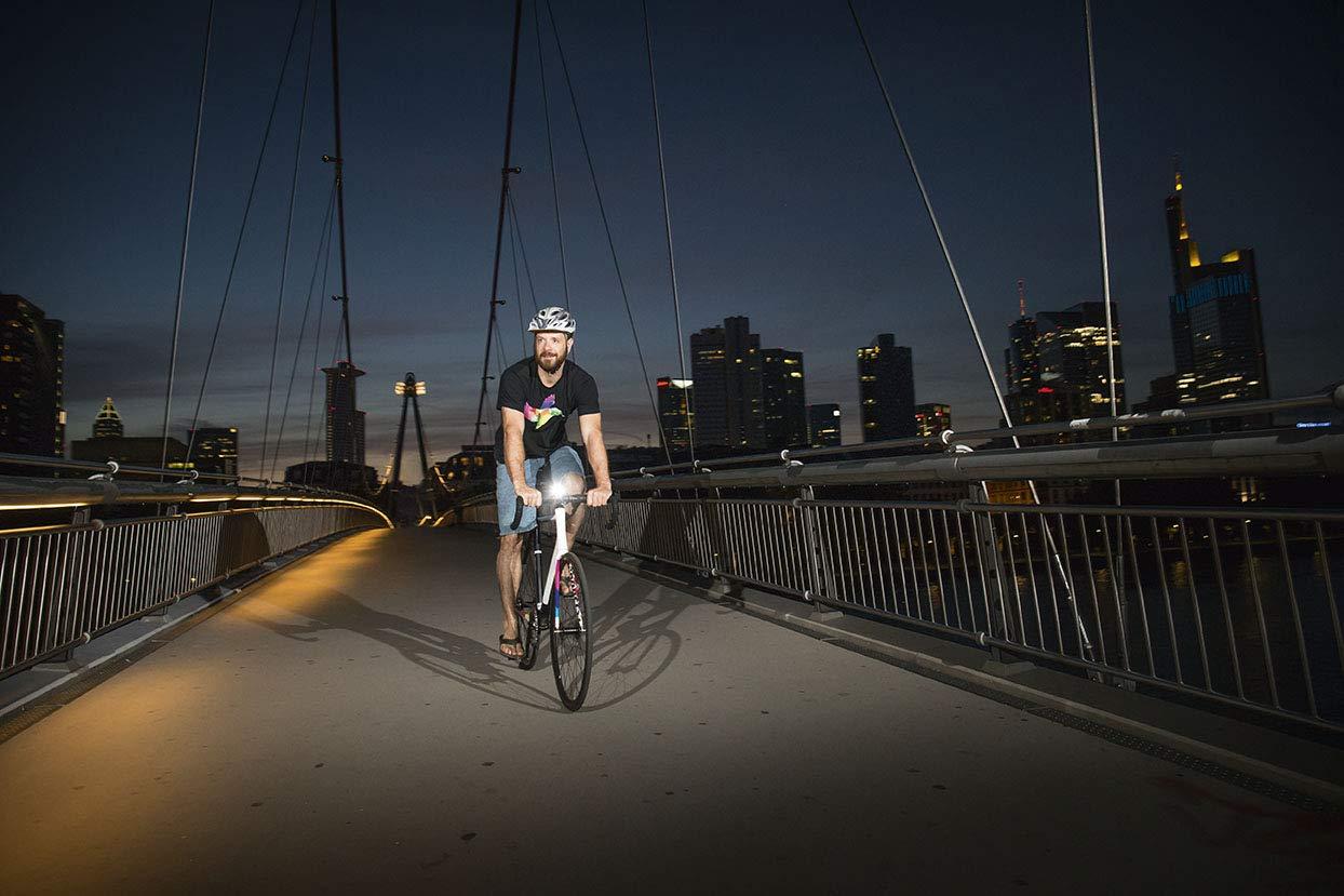 Ciclismo,componentes de Bicicleta Talla /Única Sigma Aura 40 USB Faro Delantero Negro Deportes al Aire Libre