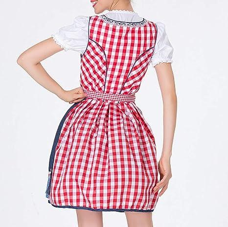 Sukienka damska na Oktoberfest Halloween, karnawał, bawarska tradycyjna odzież na festiwal, dla dziewczynki służbowej, kostium na imprezę, do strojÓw ludowych, na specjalne okazje, sukienka balow