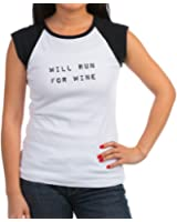 CafePress - willrunforwine.png Women's Cap Sleeve T-Shirt - Women's Cap Sleeve T-Shirt
