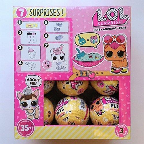 LOL Surprise! Full Case of 18 Pets Balls Series 3