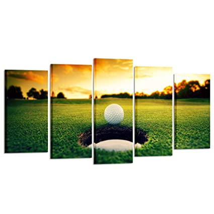 Amazon.com: Kreative Arts - Golf Course Scenery Canvas Wall Art ...