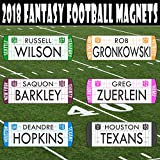 The Draft Party Fantasy Football Draft Player Names - NEW 2018/19 MAGNETIC/MOVABLE - Use with TheDraftParty Fantasy Draft Board