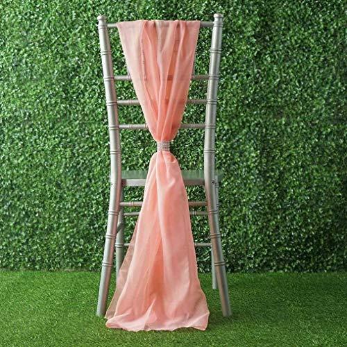 Mikash Extra Wide Premium Chiffon Chair Sashes Bows Ties Wedding Reception Decorations   Model WDDNGDCRTN - 8281   25 pcs