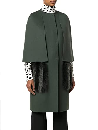 Fendi Femme FF8369W1DF09UP Vert Laine Manteau  Amazon.fr  Vêtements ... 66cc22ee2c9