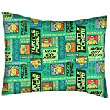 SheetWorld Percale Twin Pillow Case - Ninja Turtles Pizza Time - Made In USA