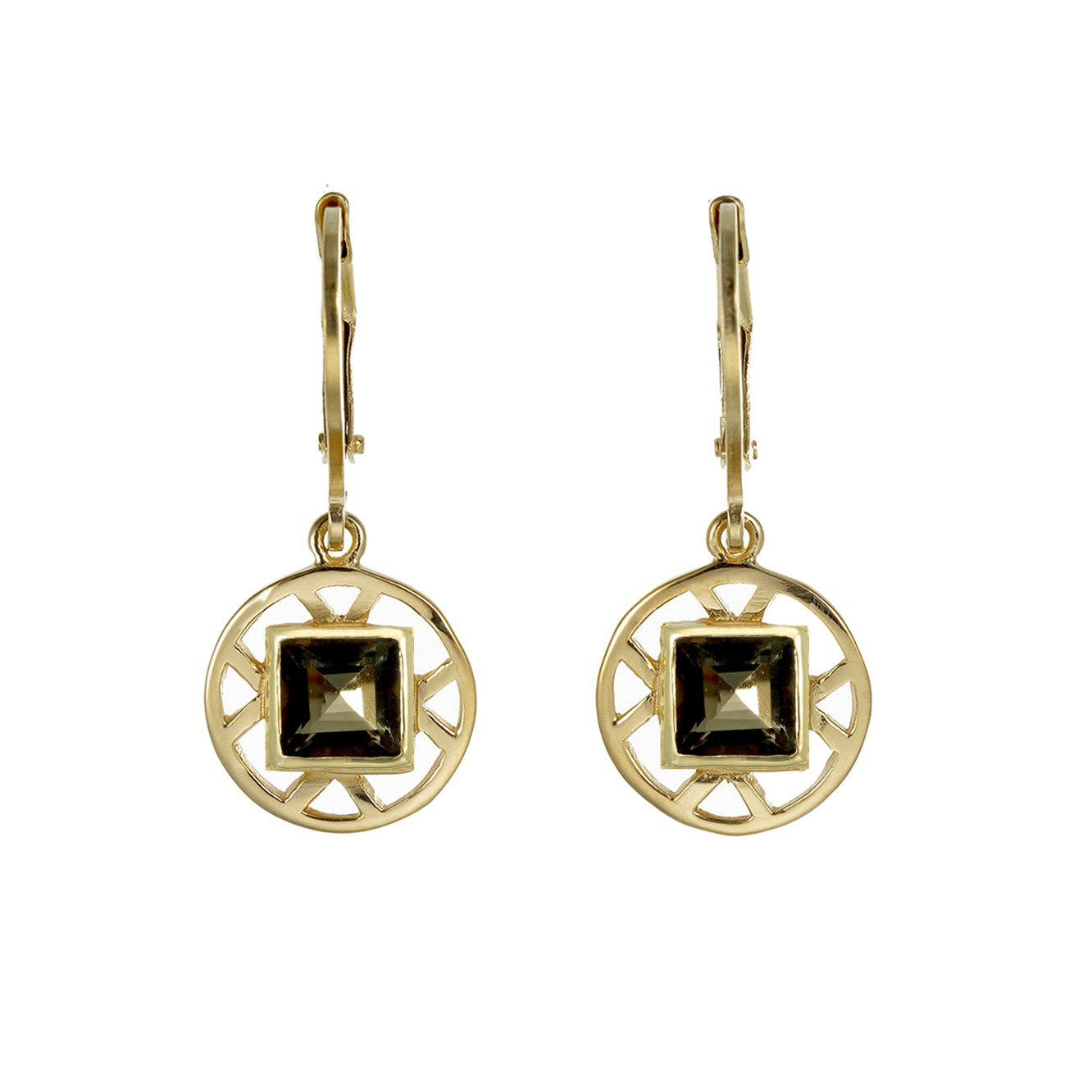 2e7e9094e Zoe and Morgan Olivia Earrings with Quartz: Amazon.co.uk: Jewellery
