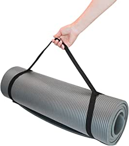 Yoga Mat, 10Mm Extra Thick Yoga and Pilates Mat, Environmentally Textured Non-Slip Surface and Best Cushioning, High-Density Sports Mat with Strap