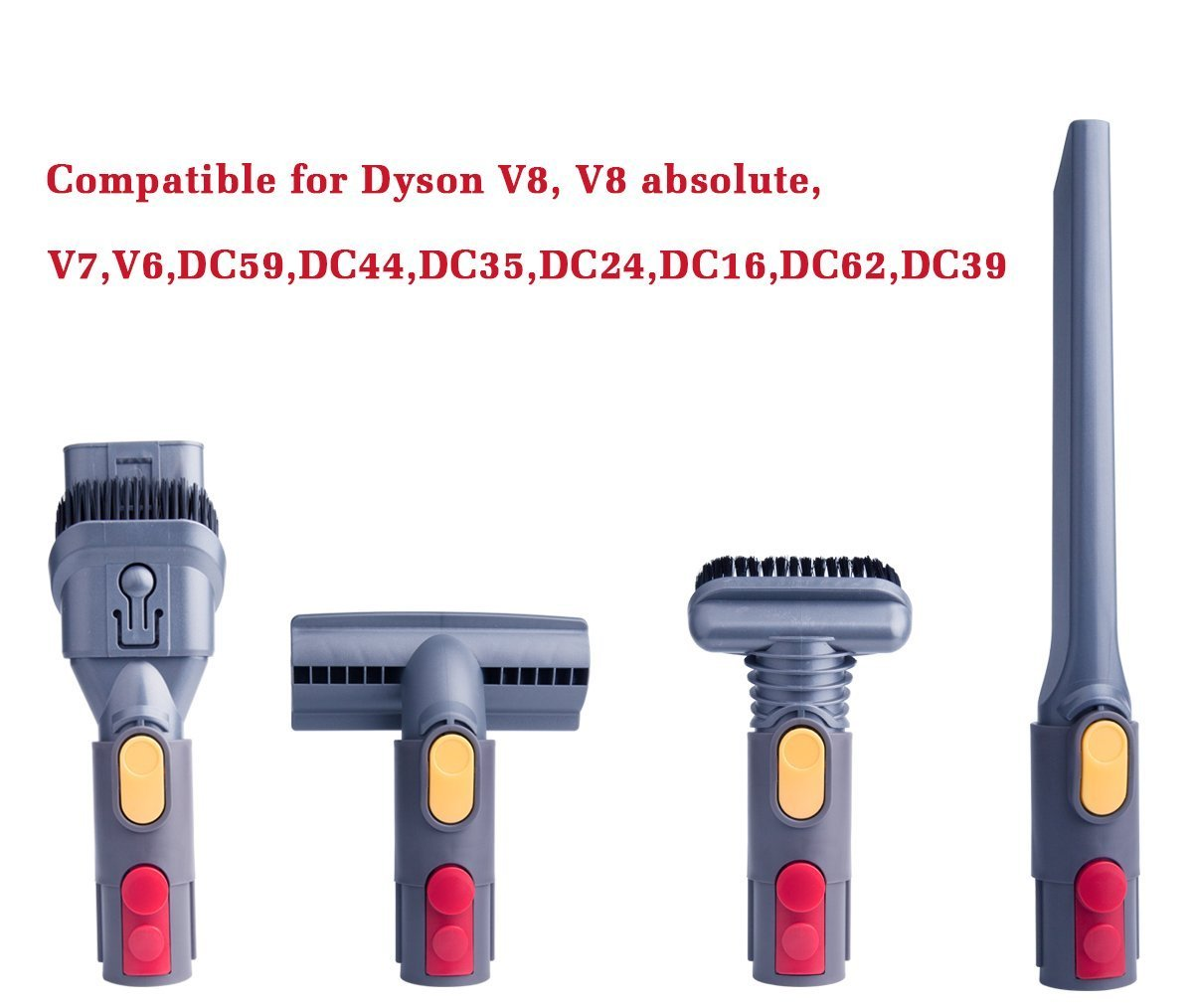 honfa para Dyson V7, V8 adaptador Set, uso edad Dyson accesorios [EG: DC35 DC44 DC58 DC59 DC62, V6, DC08] Compatible con tu Dyson V7 V8 V10 SV10 SV11 ...