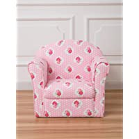Children's Pink Floral Arm Chair