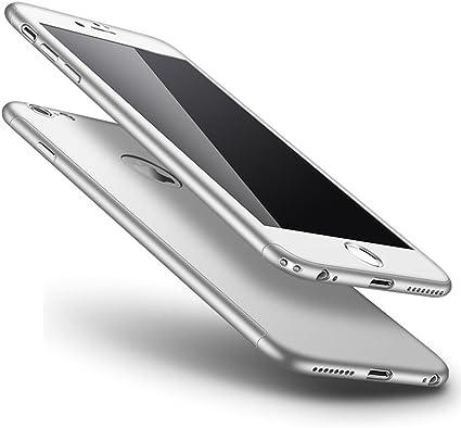 Surakey Cover Compatibile con iPhone 6 Plus/6S Plus Integrale, Plastica Rigida Protettiva Custodia 360 Gradi Protezione Totale Davanti e Dietro Hard ...