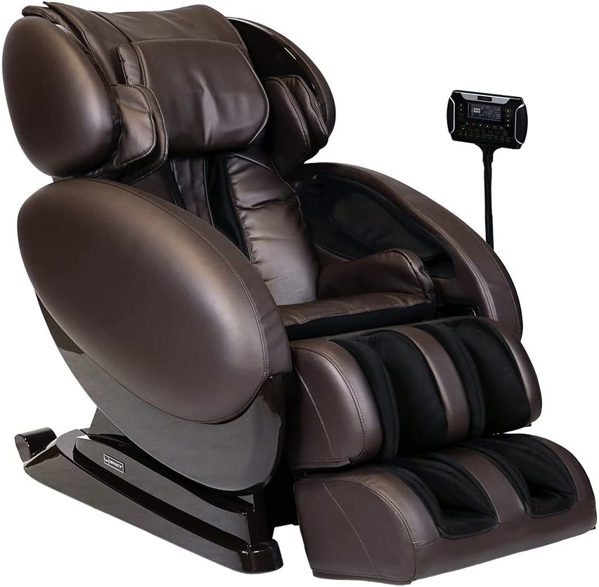 Infinity - Full Body Zero Gravity 3D Massage Chair - Featuring Air Compression, Decompression Stretch, Lumbar Heat, and Shiatsu Technique- Brown