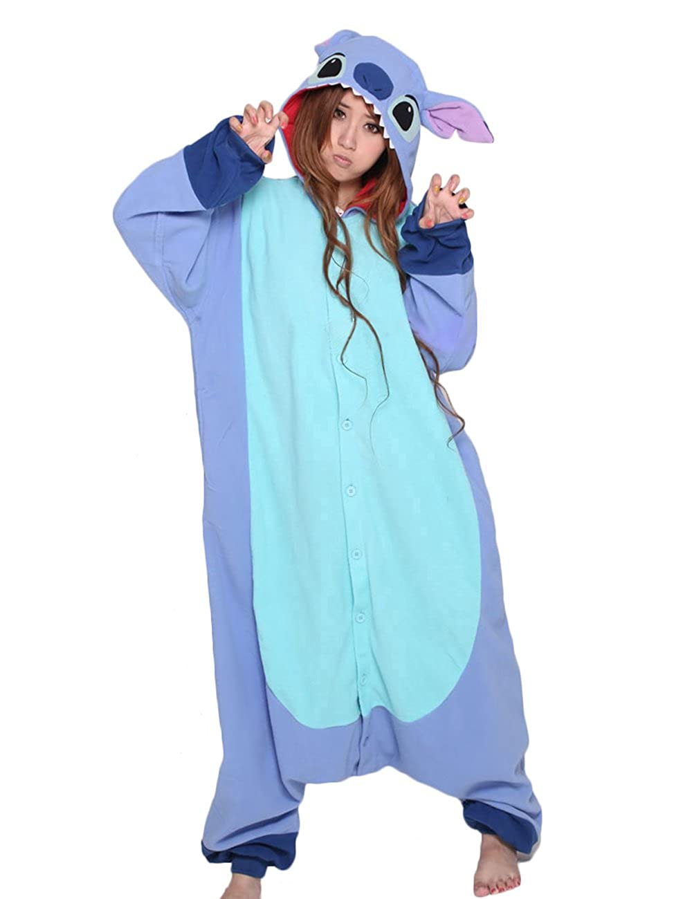 216f4c889231 Amazon.com  Lilo   Stitch Onesie for Adult and Teenagers. Animal Pajama  Costume.  Toys   Games