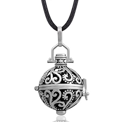 Amazon eudora harmony ball necklace 18mm antique silver chime eudora harmony ball necklace 18mm antique silver chime bell sounds women pendant gift 45quot aloadofball Gallery