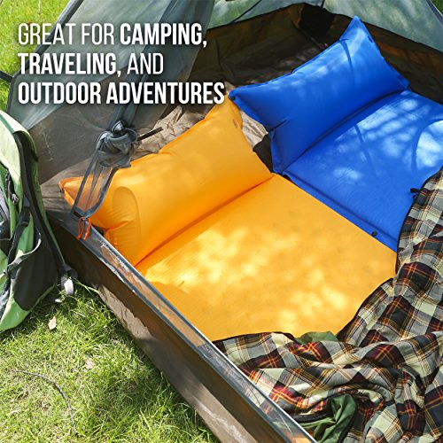 Camp Solutions Lightweight Self-Inflating Camp Pad Tent with Attached Pillow