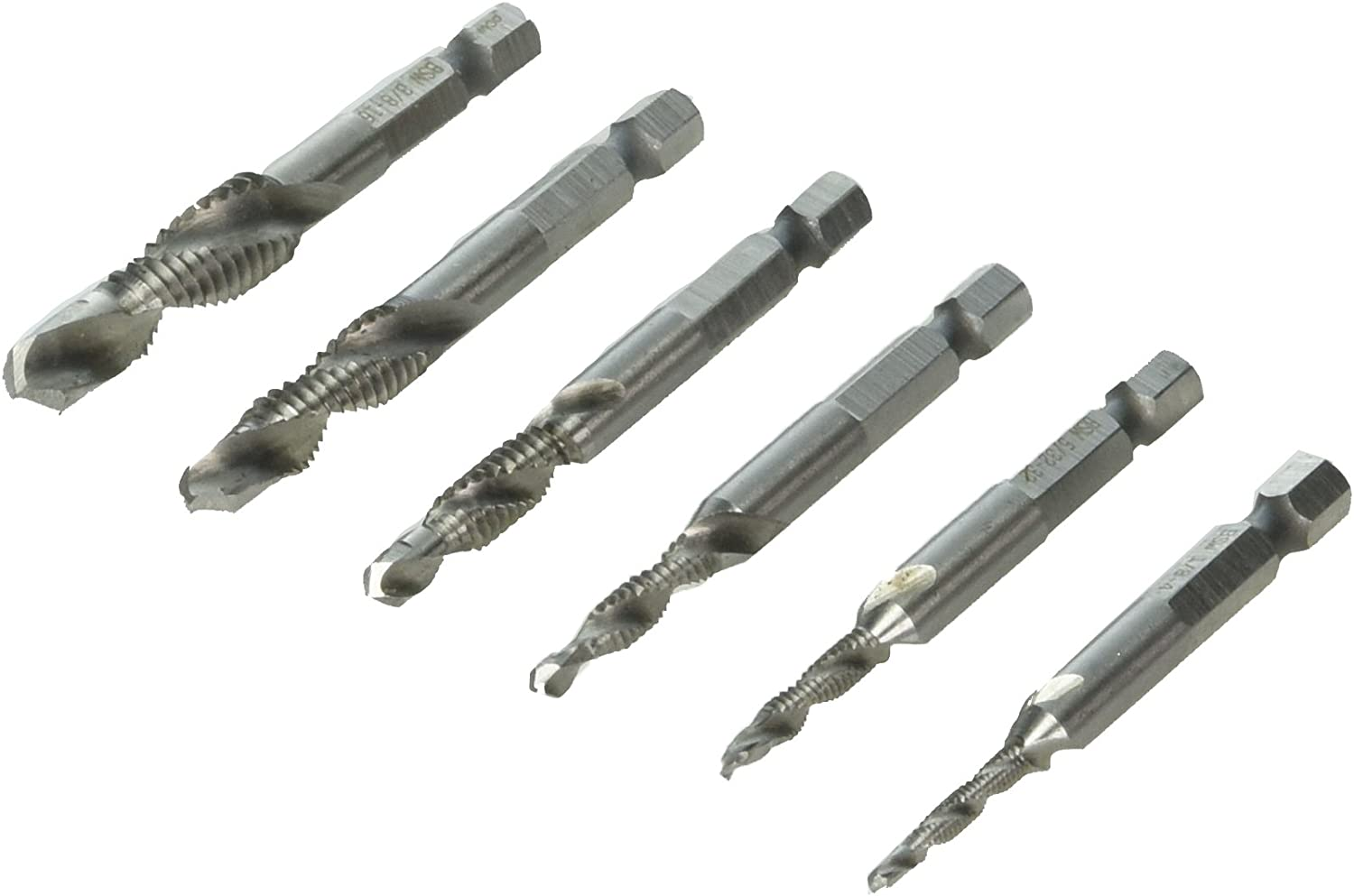 Combination drill and tap bit set RUIMI metal deburr countersink drill bit 1//8-3//8