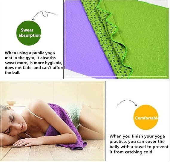 ZSZBACE Toalla para Hacer Yoga - Antideslizante con Puntos ...