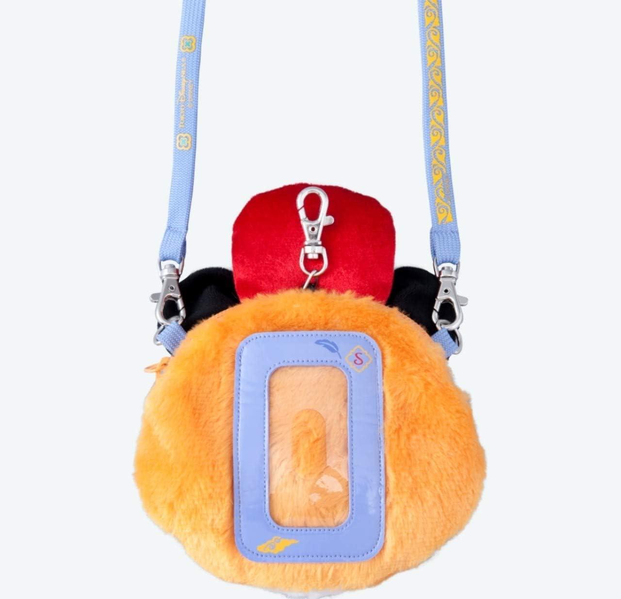 Tokyo Disney Limited Chandu Plush Shoulder Pass Case Purse Bag Strap /& Reel