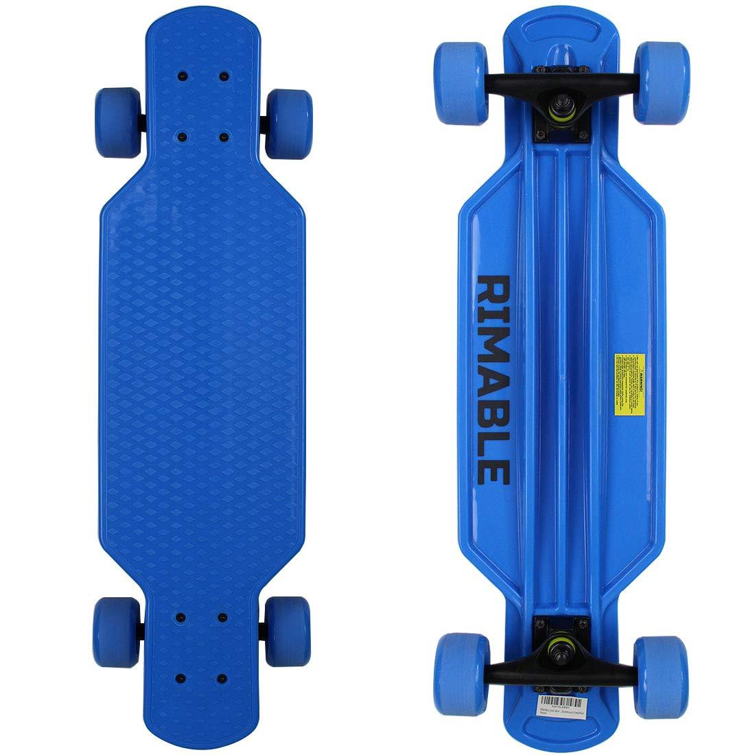 RIMABLE Kids Mini Longboard Skateboard Deepblue