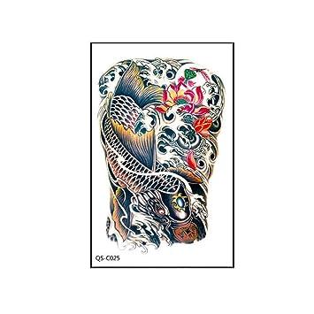 7f87167af Amazon.com : Maserfaliw Temporary Tattoos, Waterproof Girl Carp Flower Body  Art Women Men Temporary Arm Tattoo Sticker 25# : Beauty
