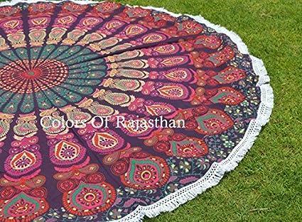 The COR's Hippie Mandala Tapestry Round Roundie Wall Hanging Beach Towel