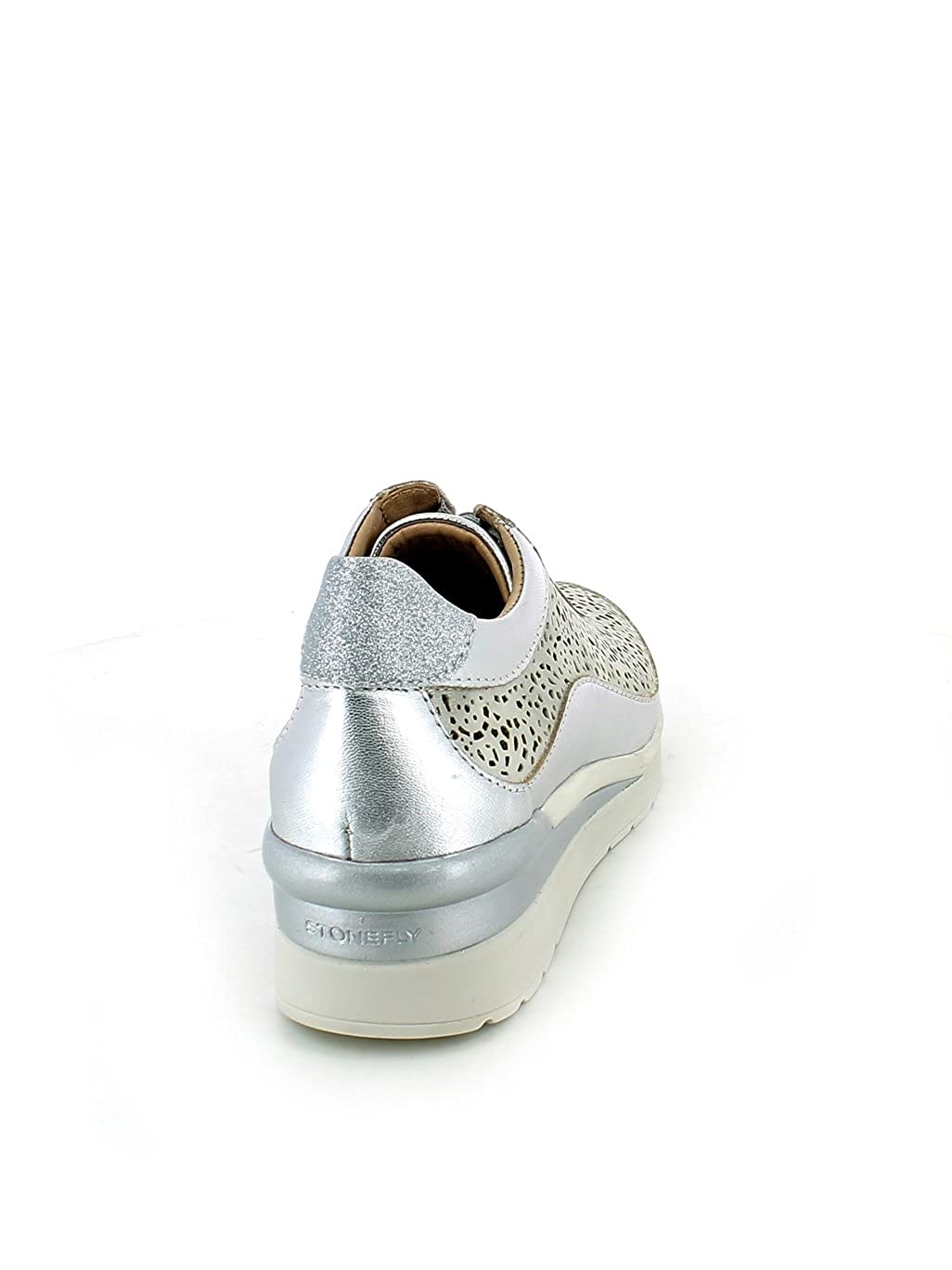 Stonefly Calzado Deportivo Para Mujer, Color Plateado, Marca, Modelo Modelo Modelo Calzado Deportivo Para Mujer Cream 2 Bis Plateado 926928