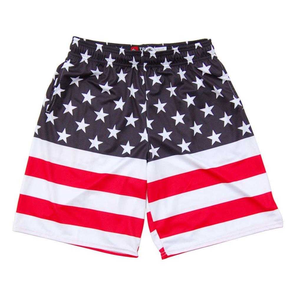 American Flag 50//50 Lacrosse Shorts