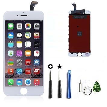 bcee534cd4 iPhone6 フロントパネル カスタムパーツ 4.7インチ 液晶パネル LED スクリーン 修理パーツ (白)