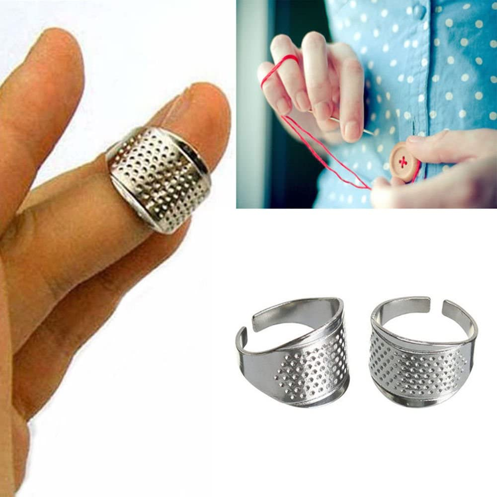 TM 5 Adjustable Thimble Sewing Quilting Metal Ring Leather Craft Finger Protector Barhunkft