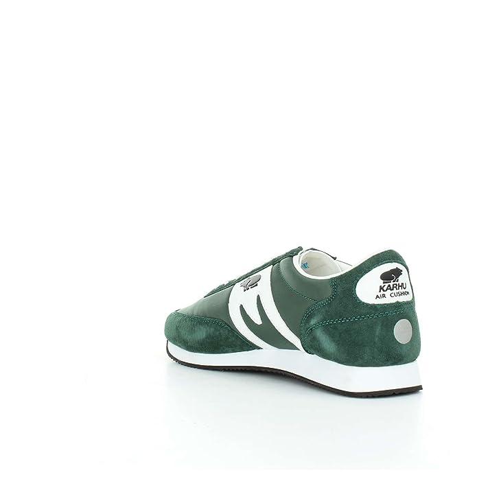 wielka wyprzedaż uk na wyprzedaży niskie ceny KARHU Albatross sneakers running PELLE TESSUTO GREEN WHITE ...