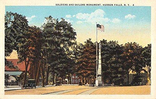 Hudson Falls New York Soldier And Sailors Monument Antique Postcard K83547