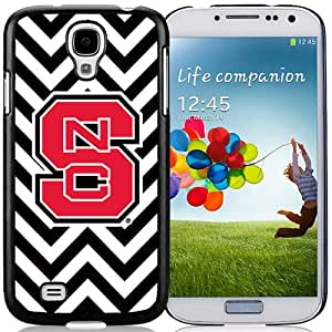 Fashionable And Unique Custom Designed With NCAA Atlantic Coast Conference ACC Footballl North Carolina State Wolfpack 2 Protective Cell Phone Hardshell Cover Case For Samsung Galaxy S4 I9500 i337 M919 i545 r970 l720 Phone Case Black