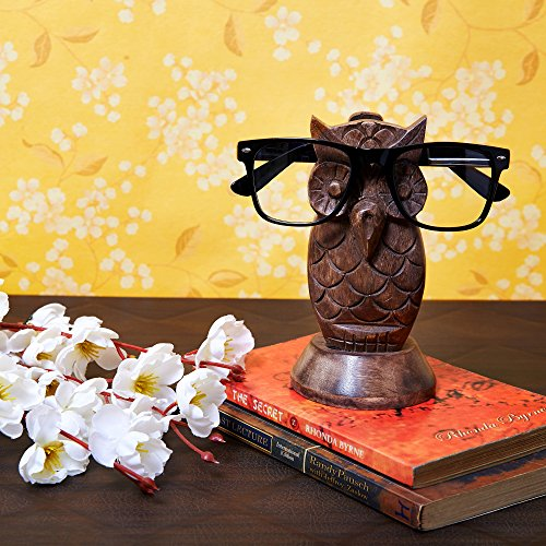 pectacle Holder Wooden Eyeglass Stand Handmade Display Home and Office Decor Accessories A for Him or Her, ()