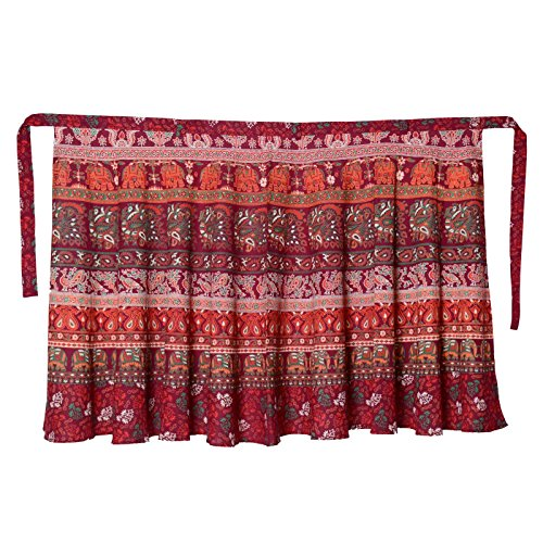 Maroon 40 Rajasthani Wrap Sttoffa Around D2 Length Skirt inch 8UdW41qgS