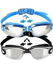 EverSport Swim Goggles, Pack of 2 Swimming Goggles, Swim Glasses No Leaking Anti Fog UV Protection for Adult Men Women Youth Kids Children, Shatter-Proof, Watertight, Triathlon Goggle