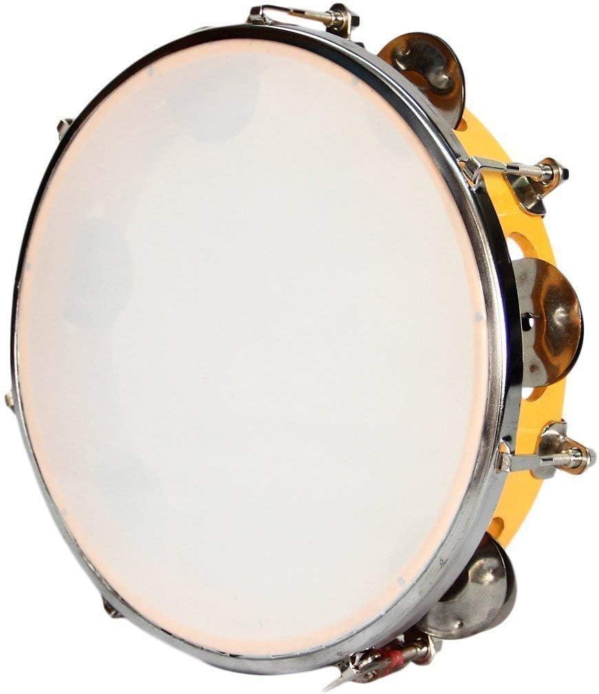 RAMANI INTERNATIONAL Dafli Tambourine Indian Musical Instrument Hand Percussion|Tambourine Hand Percussion Musical Instrument,10 inch Limited Period Offer