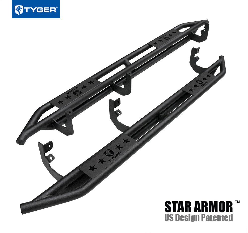 Tyger Auto TG-AM2N20168 Star Armor Kit for 2004-2019 Nissan 2016-2019 Titan XD Crew Cab | Textured Black | Side Step Rails | Nerf Bars | Running Boards