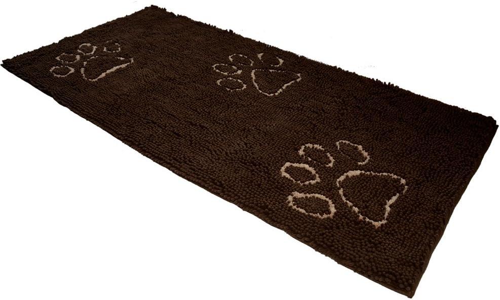 EXPAWLORER 汚れた犬 用 犬 玄関マットランナー61インチ マイクロファイバー吸水性ペットドアマット30インチ XLサイズ ブラウン