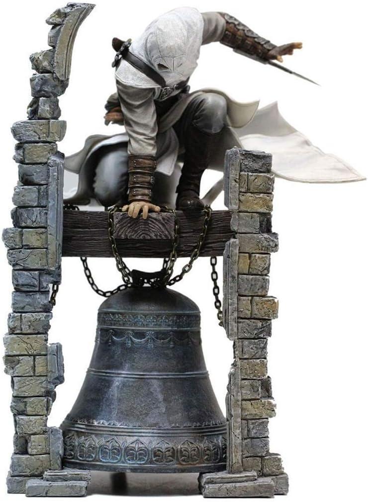 LyJ+evanism Anime Modelo Personajes Recuerdo Ornamento Coleccionable, Assassin'S Creed Character Modelo Juguete Decoración Clock Tower Estatua Regalo Artesanía Juego Anime Lovers (28CM)