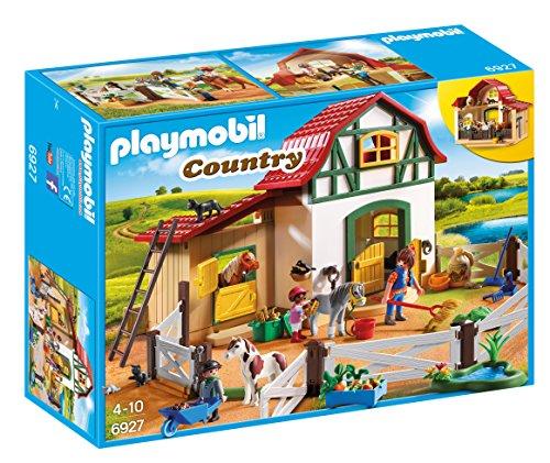 PLAYMOBIL Country Granja de Ponis con muchos Animales y Pajar