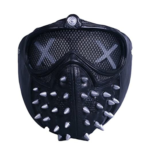 nihiug Watchdog 2 Wrench Mask Mask Cos Game Around Halloween Cosplay Máscara Apoyos,NoLights-OneSize: Amazon.es: Hogar