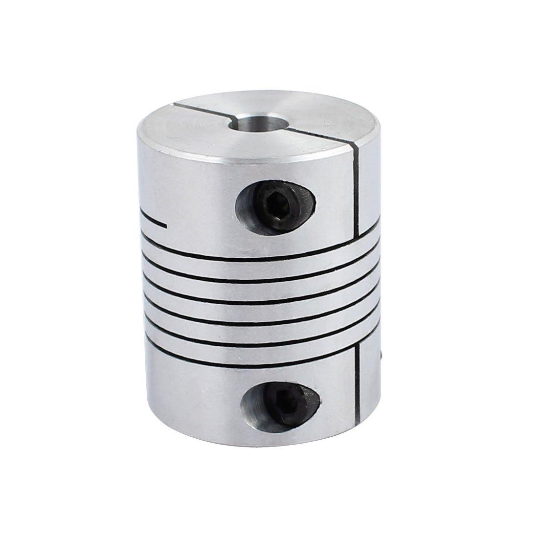 uxcell 8mm to 12mm Shaft Coupling 40mm Length 32mm Diameter Stepper Motor Coupler Aluminum Alloy Joint Connector for 3D Printer CNC Machine DIY Encoder